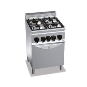 Cucina 4 fuochi a Gas con Forno serie 600 berto's