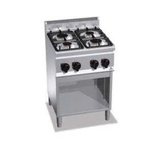 cucina 4 fuochi a gas serie 600 berto's