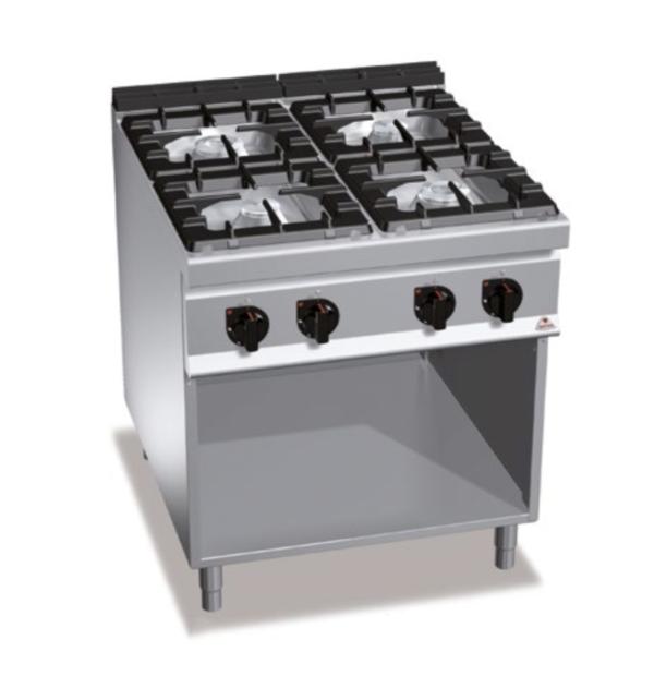 cucina 4 fuochi a gas serie 900 berto's