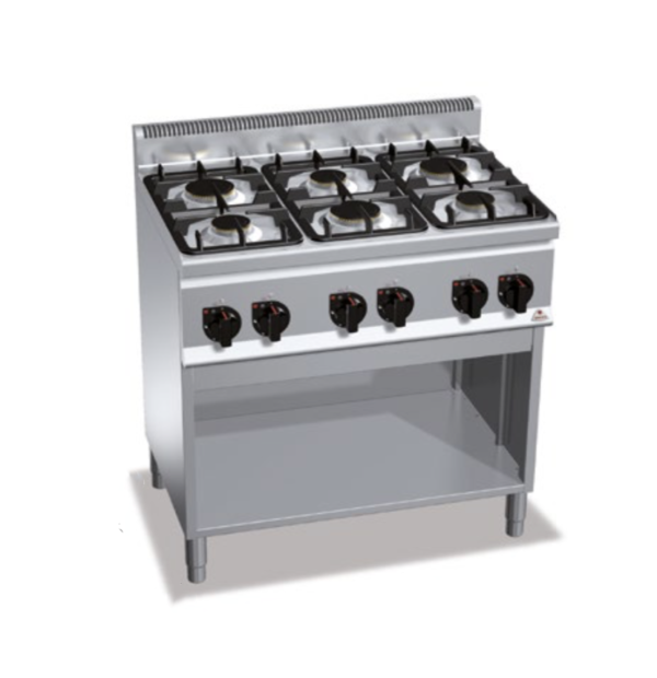 cucina 6 fuochi a gas serie 600 berto's