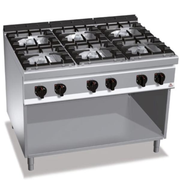 cucina 6 fuochi a gas serie 900 berto's
