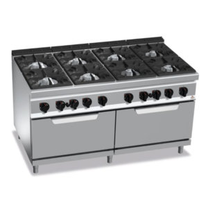 cucina 8 fuochi a gas con 2 forni serie 900 berto's